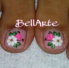 Pedicure Nail Art, Toe Nail Art, Nail Spa, Cute Pedicure Designs, Toe Nail Designs, Cute Toe Nails, Love Nails, Cute Pedicures, Summer Toe Nails