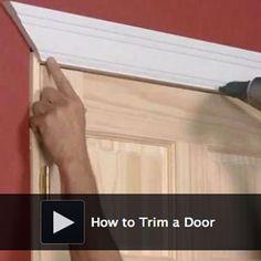 How to Trim a Door
