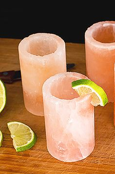 Pure Himalayan Salt Shot Glasses add the perfect flare to your drink!