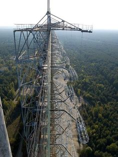 Abandoned Duga-3 radar array in the Chernobyl Exclusion Zone.