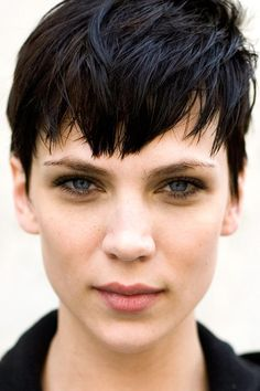 love the short pixie cut. and aren't those eyes stunning?