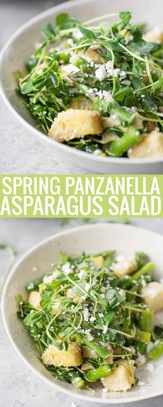 asparagus panzanella - also want to make with peas... and bacon