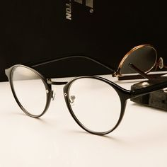 461ca2f043876 Brand Retro Round Eyes Glasses Frame Men Women Ultra Light Vintage Myopia  Eyeglasses Frame Plain Lens oculos de grau femininos