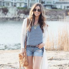 @laurmcbrideblog keeps it cool, casual and cozy in our Racerback Tank. Shop all out prints online @nordstrom.