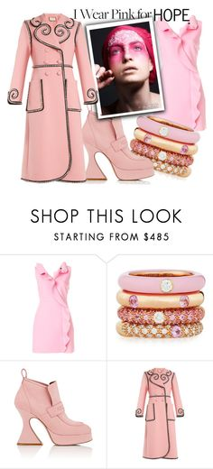 """""""Hope"""" by abbyandelle ❤ liked on Polyvore featuring MSGM, Adolfo Courrier, Sies Marjan, Gucci, breastcancerawareness, AbbyAndElle and upstairsfashion"""