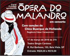Diário dos Escritores: Teatro - Ópera do Malandro