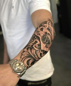 Tattoos Discover [New] The 10 Best Tattoo Ideas Today (with Pictures) - Watch Tattoos All Tattoos Life Tattoos Tribal Tattoos Tattoos For Guys Skull Sleeve Tattoos Warrior Tattoos Muster Tattoos Black Rose Tattoos Half Sleeve Tattoos Forearm, Skull Sleeve Tattoos, Half Sleeve Tattoos For Guys, Forarm Tattoos, Half Sleeve Tattoos Designs, Forearm Sleeve Tattoos, Dope Tattoos, Best Sleeve Tattoos, Forearm Tattoo Men