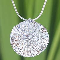 A dazzling lotus leaf center this #necklace by Pichaya in Thailand.