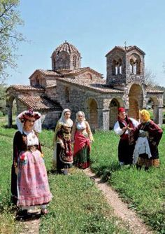 Greek Traditional Dress, Art Populaire, Albania, Greece, Folk, Random, Greece Country, Popular, Forks