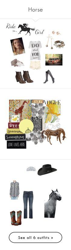 """Horse"" by bunrabit ❤ liked on Polyvore featuring Vero Moda, Rosita Bonita, Lizzy James, Breckelle's, Urban Decay, Hue, Palecek, Cosimo Vardaro, Art for Life and Bailey Western"
