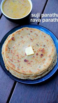 suji ka paratha recipe, sooji paratha, rava paratha with step by step photo/video. healthy flat bread recipe made with combination of semolina & wheat flour Veg Recipes, Kitchen Recipes, Vegetarian Recipes, Snack Recipes, Cooking Recipes, Paratha Recipes, Samosa Recipe, Paneer Recipes, Indian Dessert Recipes
