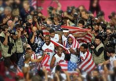 2012 Gold Medal - USA basketball team! OKC Thunder players on team - Kevin Durant, Russell Westbrook, James Harden. THUNDER UP ⚡