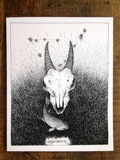 capricorn + zodiac + print                                                                                                                                                                                 Más
