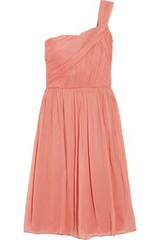 lucienne one shoulder silk chiffon dress ++ j.crew