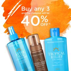02/05/2017 NEW SUN CARE PRODUCTS - buy any 3 and the cheapest will be 40% OFF Buy any 3 from selected products and the cheapest will be 40% off*! SUN CARE 2-Phase Suntan Accelerator SPF 6 150ml Argan Oil Sunscreen Spray SPF 6 ##brochure ##brochures ##buy1get1free ##federicomahora ##FM ##fmcosmetics ##fmworldeastanglia ##fmworldeastanglia.com ##honeymoon ##loveit ##lovemyjob❤️ ##makeup ##MINERAL ##MIXANDM