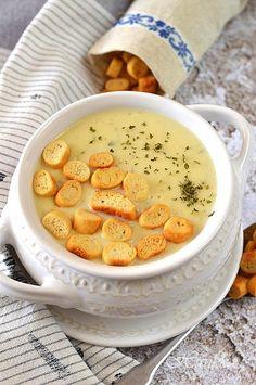 Tiroli burgonyaleves 🍴 Cheeseburger Chowder, Hummus, Soup Recipes, Beans, Vegetables, Ethnic Recipes, Vaj, Food, Soups