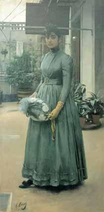 Ramon Casas, Portrait of Elisa Casas Carbo (sister to artist), 1889