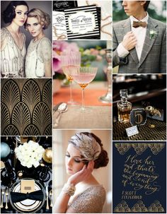 Great Gatsby (Roaring 20's) themed Parties  some modest dresses with sleeves and hair styles with feathers