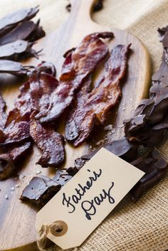 Chocolate Covered Bacon Recipe: Surprise Dad with a delicious homemade Father's Day treat this year!