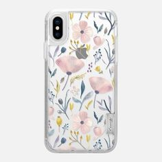 Casetify iPhone X Classic Grip Case - Delicate Pastel Floral by Noonday Design