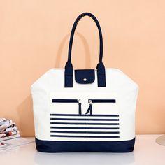 出口订单~高品质 海军风 大号女包包 妈咪包 购物包 袋旅行包袋