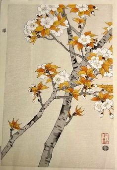 """""""Double Cherry"""" by Nisaburo Ito -- Japanese Signed Woodblock Print -- http://www.ebay.com/itm/ESTATE-VINTAGE-JAPANESE-SIGNED-WOODBLOCK-PRINT-OF-DOUBLE-CHERRY-BY-NISABURO-ITO/310691119666?_trksid=p2047675.m2109_trkparms=aid%3D555003%26algo%3DPW.CAT%26ao%3D1%26asc%3D15538%26meid%3D8588293598114976792%26pid%3D100010%26prg%3D7473%26rk%3D1%26sd%3D140987176836%26"""
