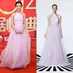 A beautiful dress from #GEORGESHOBEIKA  ready-to-wear #SS15 collection now in stores. Visit our website www.georgeshobeika.com to find your nearest. #zhaoliying #madeinchinaceremony #beinjing