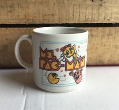 Vtg 1981 Ms Pac-Man Stoneware Coffee Mug, Atari, Coffe Cup, Collector in Collectibles, Kitchen & Home, Kitchenware | eBay