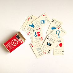 Air Line Playing Cards  Vintage Northwest Orient by MissSarahBelle, $8.00
