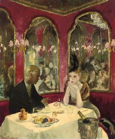 Corner of the Cafe Royal - Doris Zinkeisen 20th century
