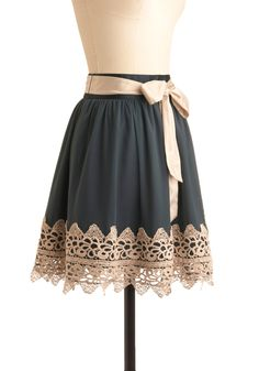 simple skirt with added lace