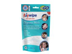 Ezywipe 32 Pieces Expandable Wipes Reusable Coin Tissue Towel for Travel, Camping, Hiking, Makeup Remover, Hand Wipes -Super Absorbent- Hypoallergenic