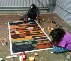 Our Studio | Mimi Art Gallery Damien Marks Tjungala and Yilpi Marks Atira