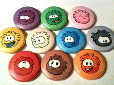 PUFFLES  Disney Club Penguin  a pinback button by SkippyDogDesigns, $6.50