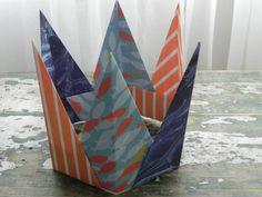 Stocking Stuffer Origami Paper Crown, Gift for Princess, Birthday, Retirement, Gift for Boy, Gift for Girl, King, Queen, Shark Lover Gift