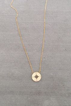 Dainty Compass – Fifth & Mae. Compass Necklace
