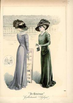 De Gracieuse September 1909, Edwardian Fashion Plate