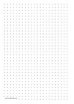This printable dot paper has three dots per inch and is in portrait (vertical) orientation on letter-sized paper. Free to download and print