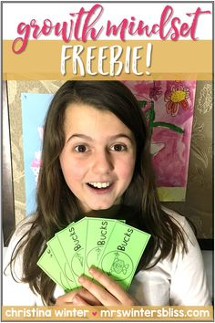 A free idea that encourages children to have a growth mindset. Brain bucks are a positive reward teachers can give students while praising students for their effort and perseverance. #growthmindset #classroommanagement #growthmindsetfree