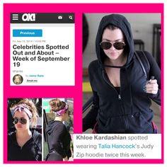 Khloe Kardashian wearing Talia Hancock as seen on OK! Magazine.com! http://okmagazine.com/live-big/celebrities-spotted-out-and-about-week-of-september-19/