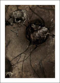 Santiago Caruso, El horror de Dunwich