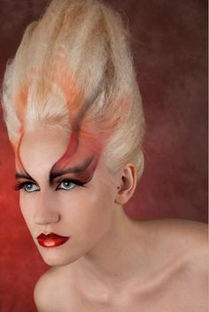 Fire makeup from ShowMe Make-Up