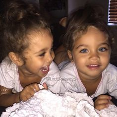 Flawlessly beautiful identical twin baby girls #multiple #twins #identical