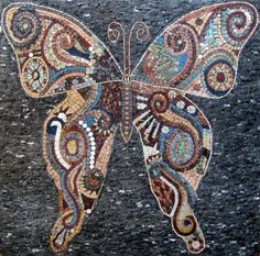 Butterfly Marble Mosaic Tiles Stone