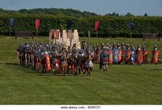 the mighty roman army - Stock Image