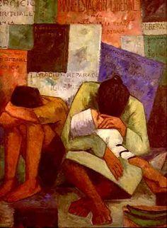 La familia en la esquina de una ciudad - Pedro Nel Gomez A