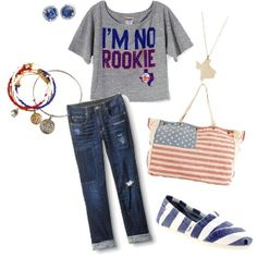 Texas Rangers I'm diggin the shirt, the pants, and the Toms. (: