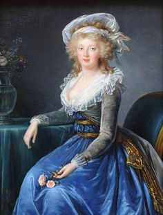 Maria Theresa of Naples and Sicily, as painted by Élisabeth Vigée-Lebrun.