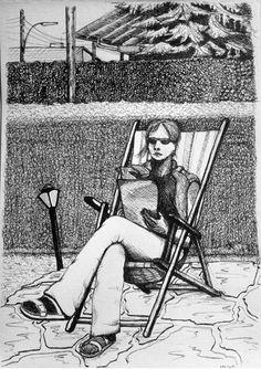me in the sun mnutz 2012 Pen Drawings, Sun, Black And White, Paper, Black N White, Black White, Solar