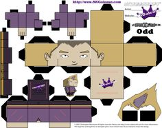 Cubeecraft Paper Craft of Odd from Code Lyoko   SKGaleana